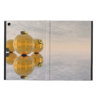 Golden Christmas balls - 3D render iPad Air Cover