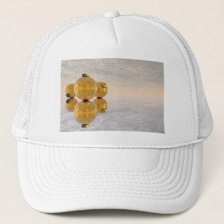 Golden Christmas balls - 3D render Trucker Hat