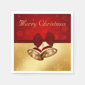 Golden Christmas Bells - Paper Napkin
