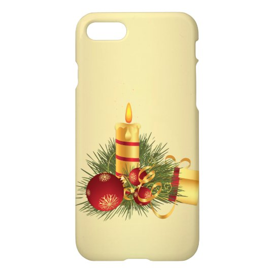 Golden Christmas Candle iPhone 8/7 Case