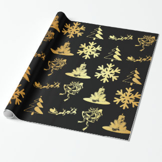 black and gold christmas wrapping paper. Black Bedroom Furniture Sets. Home Design Ideas
