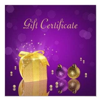 Golden Christmas Gift Box - Gift Certificate Card
