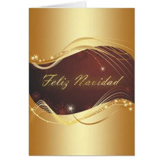 Golden Christmas motive with red background... Card