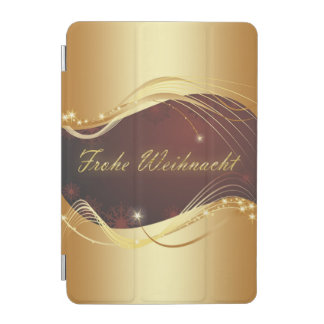 Golden Christmas motive with red background... iPad Mini Cover