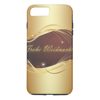Golden Christmas motive with red background... iPhone 8 Plus/7 Plus Case