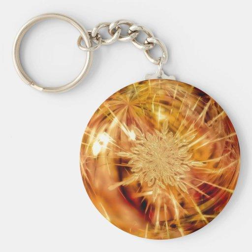 Golden Christmas Ornament Key Chain