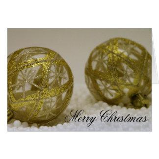 Golden Christmas Ornamentts Card