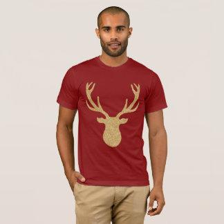 Golden Christmas Reindeer T-Shirt