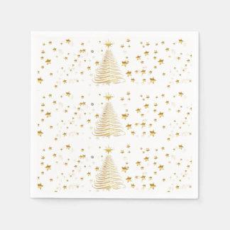 Golden Christmas Set - Cocktail Paper Napkins