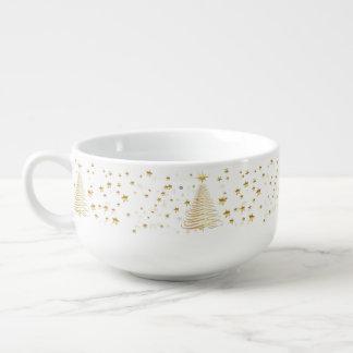 Golden Christmas Set - Soup Mug