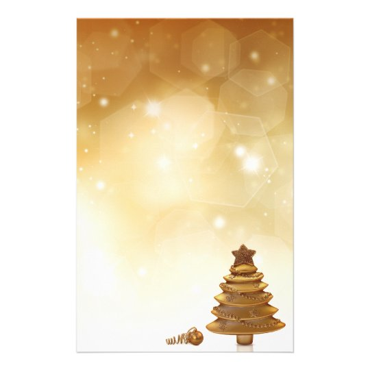 Golden Christmas - Stationery Letterhead