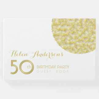 Golden Circle 50th Birthday Party Guest Book