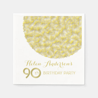 Golden Circle 90th Birthday Party Paper Napkins