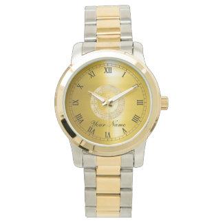Golden Circle Wrist Watch