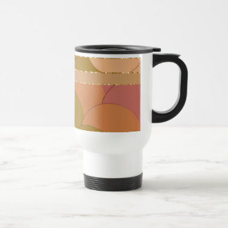 Golden Circles Pattern Travel Mug