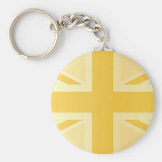 Golden Classic Union Jack British(UK) Flag Keychains