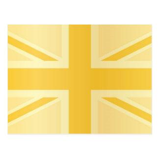 Golden Classic Union Jack British UK Flag Post Card