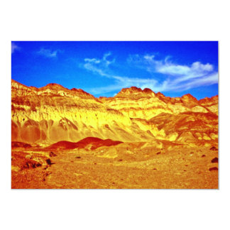Golden Cliffs And Blue Sky 13 Cm X 18 Cm Invitation Card