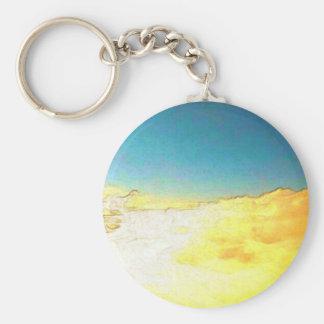 Golden Cloud Basic Round Button Key Ring