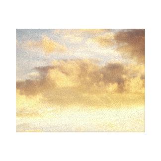 Golden Cloud in Sky Canvas Canvas Print