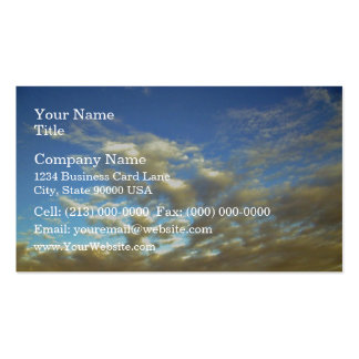 Golden Cloud Layer And Blue Sky Business Card Template