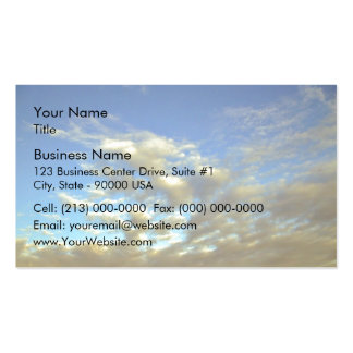 Golden Cloud Layer And Blue Sky Business Card Templates