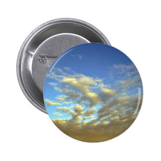 Golden Cloud Layer And Blue Sky Button