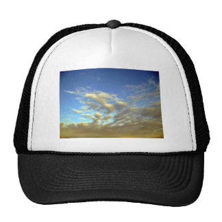Golden Cloud Layer And Blue Sky Hat