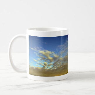 Golden Cloud Layer And Blue Sky Coffee Mugs