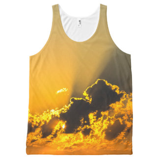 Golden Clouds All-Over Print Tank Top