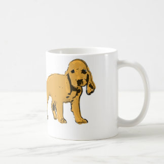golden cocker spaniel puppy mug