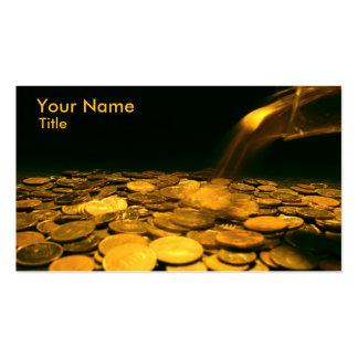 Golden Coin Business Card