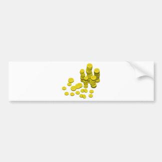 Golden Coins Bumper Sticker