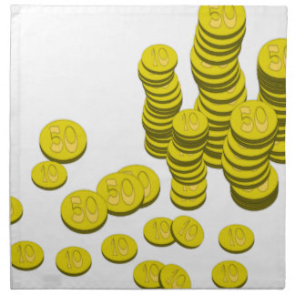 Golden Coins Napkin