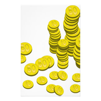 Golden Coins Stationery