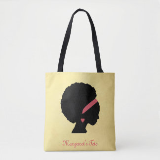 Golden color design Afro hair Tote Bag