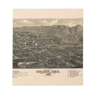 Golden Colorado 1882 Notepad