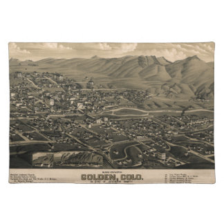 Golden Colorado 1882 Placemat