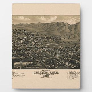 Golden Colorado 1882 Plaque