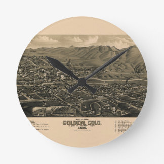 Golden Colorado 1882 Round Clock