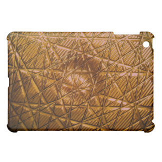 Golden Colour Royal Look Designers Metallic Abstra iPad Mini Cover