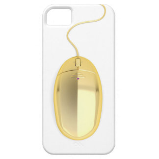 Golden computer mouse case for the iPhone 5