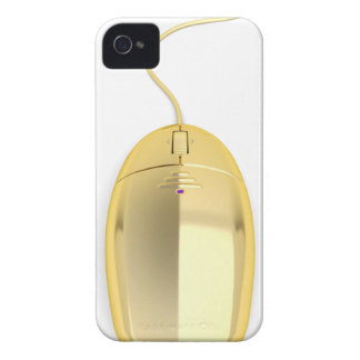 Golden computer mouse iPhone 4 cover