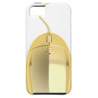 Golden computer mouse iPhone 5 covers