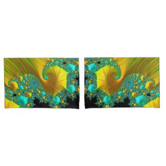 Golden Cone Pillow Case Set Bedroom Design