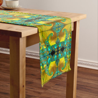 Golden Cone Table Runner Dining Room Design