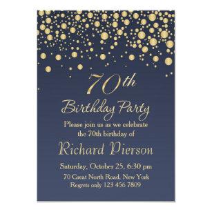 70th Birthday Invitations Announcements Zazzle Au