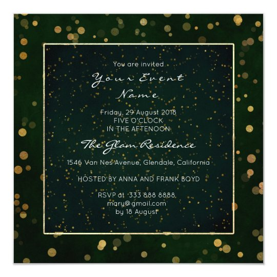 Golden Confetti Woodland Starry Night Cali Green Card