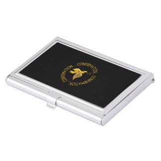 Golden Confirmation and Holy Spirit Business Card Holders