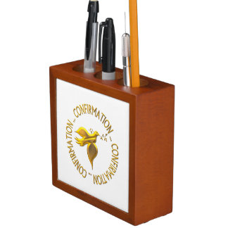 Golden Confirmation and Holy Spirit Desk Organisers